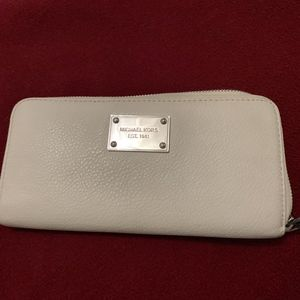 Off White Leather Wallet